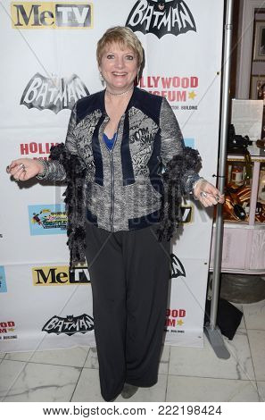 LOS ANGELES - JAN 10:  Alison Arngrim at the Batman '66 Retrospective and Batman Exhibit Opening Night at the Hollywood Museum on January 10, 2018 in Los Angeles, CA