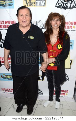 LOS ANGELES - JAN 10:  Burt Ward, Tracy Posner at the Batman '66 Retrospective and Batman Exhibit Opening Night at the Hollywood Museum on January 10, 2018 in Los Angeles, CA