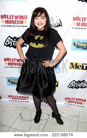 LOS ANGELES - JAN 10:  Chloe Noelle at the Batman '66 Retrospective and Batman Exhibit Opening Night at the Hollywood Museum on January 10, 2018 in Los Angeles, CA