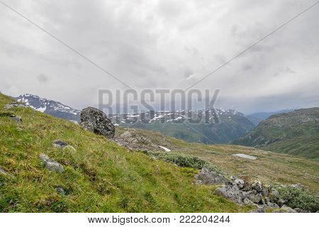 Dramatic Mountain Landscape In Scandinavia