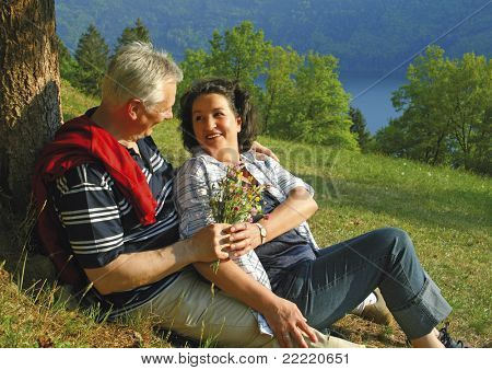 attractive married mature couple enjoying their togetherness. keyword for this collection is