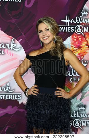 LOS ANGELES - JAN 13:  Pascale Hutton at the Hallmark Channel and Hallmark Movies and Mysteries Winter 2018 TCA Event at the Tournament House on January 13, 2018 in Pasadena, CA