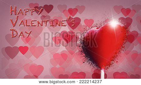 Heart-shaped Lollipop Shattered