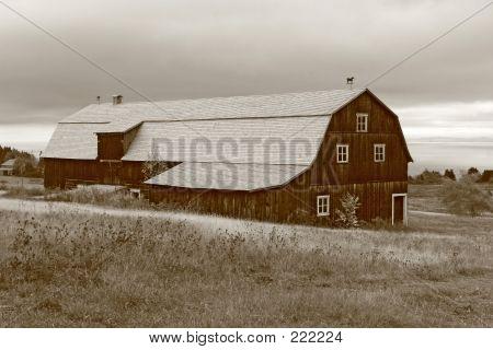 Sepia Tone Beautiful Old Barn