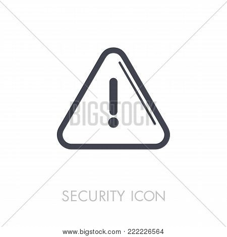 Attention sign with exclamation mark icon on white background. Security. Graph symbol for your web site design, logo, app, UI. Vector illustration, EPS10.