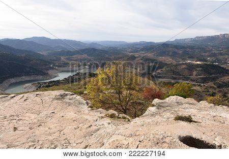 landscape from Siurana, El Priorat, Tarragona province, Catalonia, Spain