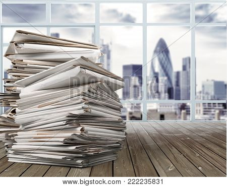 Business stack documents group large background object