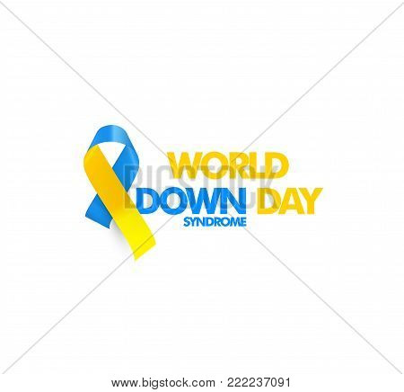 World down syndrome day, genetic disorder 21 chromosome, DS or DNS trisomy vector symbol