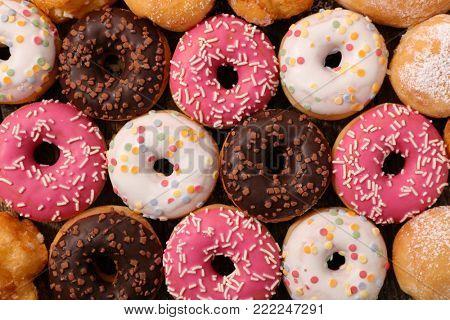 assorted glazed donut