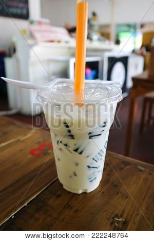 grass jelly or leaf jelly or mesona chinensis