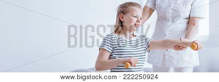 Young Girl Exercising Pronunciation