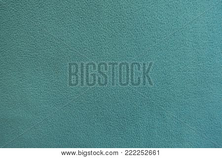 Mint green polar fleece fabric from above