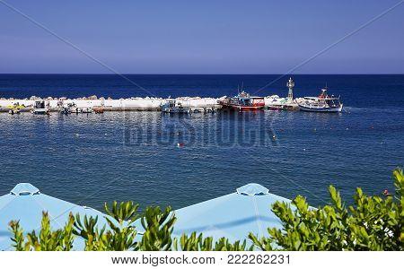 Seaport view at Bali village, Crete Island, Greece