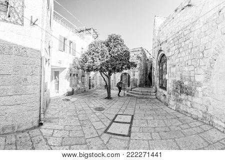 JERUSALEM, ISRAEL - November 2016: Street Life on the streets of Jerusalem.