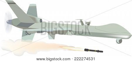 remotely piloted aircraft with missile remotely piloted aircraft with missile