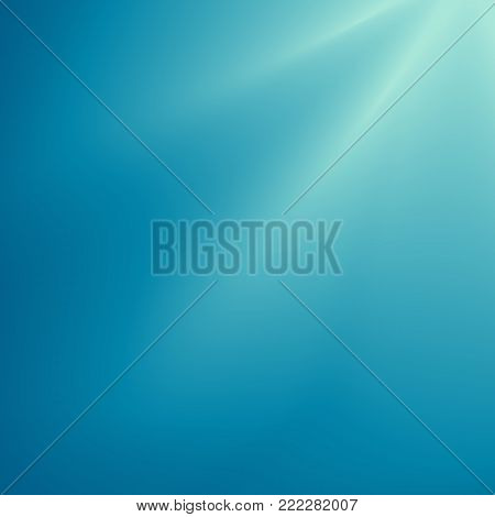 Abstract background, technology blending. Underwater view with sun rays. Turquoise water in the sea, the ocean. Design for poster, banner. Vector illustration.