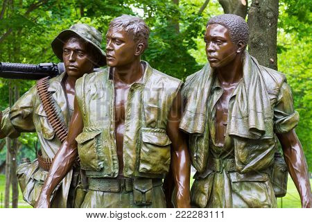 WASHINGTON DC - May 10, 2016: Vietnam Veterans Memorial, in Washington DC,