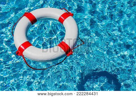 lifebuoy in a pool