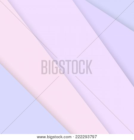 Abstract background with soft pink paper layers. Soft pink overlap layer paper material design, vector illustration