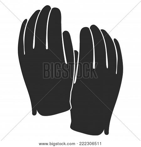 Golf gloves silhouette on a white background, Vector illustration