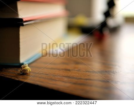 Messy, Cluttered Desk with Crumpled Paper Ball