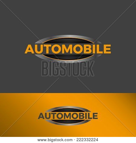 Ellipse Strong Bold logo template icon symbol with yellow color