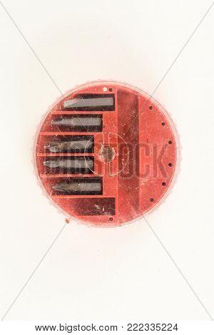 Closeup screwdriver insert bits of various sizes
