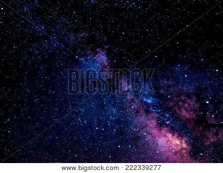 The colors of the Milkway in the night sky.