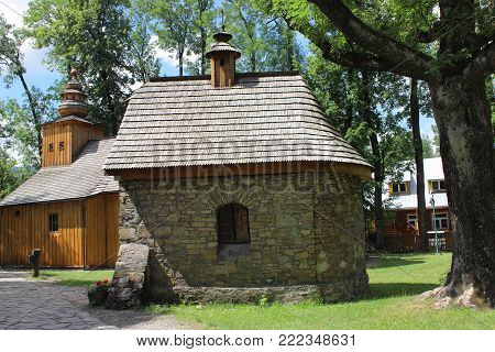 Chapel from the year 1800 Saints Andrew and Benedict at the church of Our Lady of Czestochowa in Zakopane.
