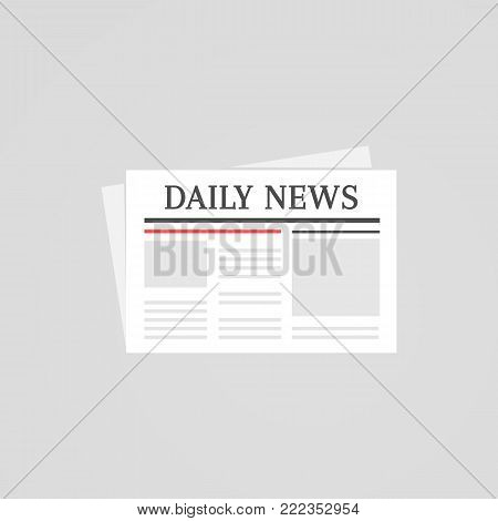 Daily news newspaper flat icon sign illustration