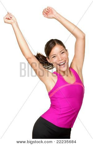 Happy Fitness Woman Dancing