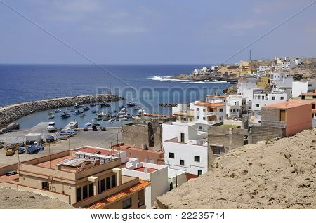 Town and port of San Miguel del Tajao at Tenerife
