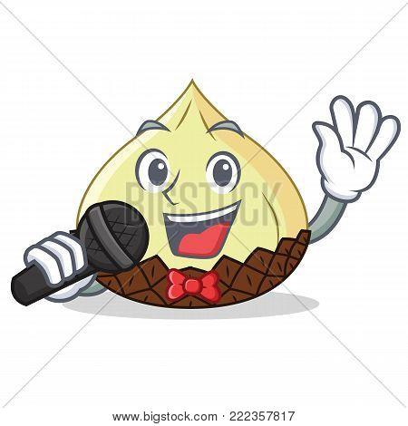 Singing snake fruit mascot cartoon vector illustration
