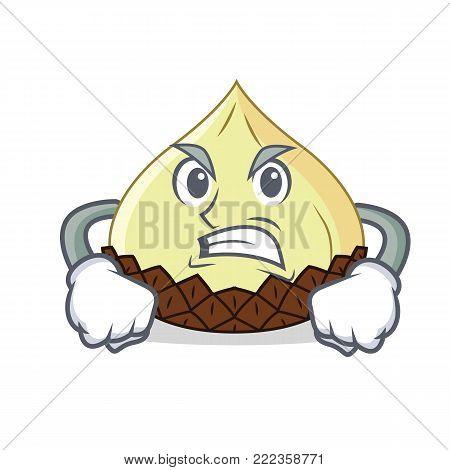 Grinning snake fruit mascot cartoon vector illustration