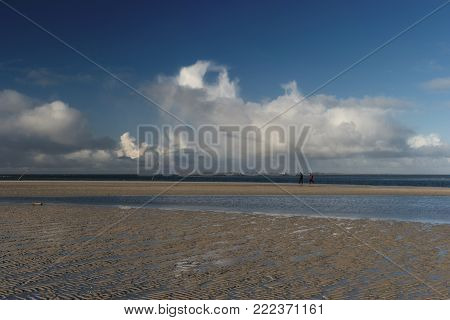 Panoramic View On The North Frisian Island Amrum In Germany