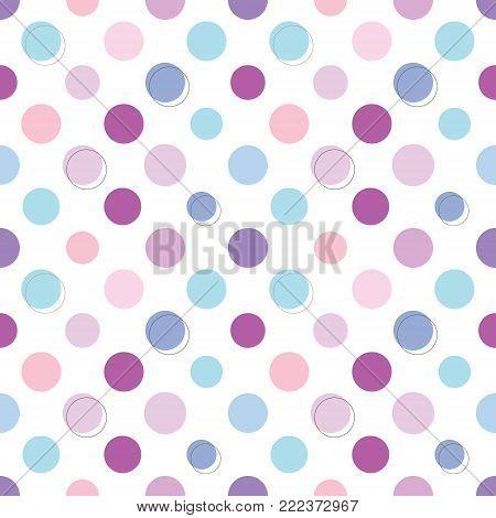 Polka dot seamless pattern. Cute design for scrapbook paper, textile.