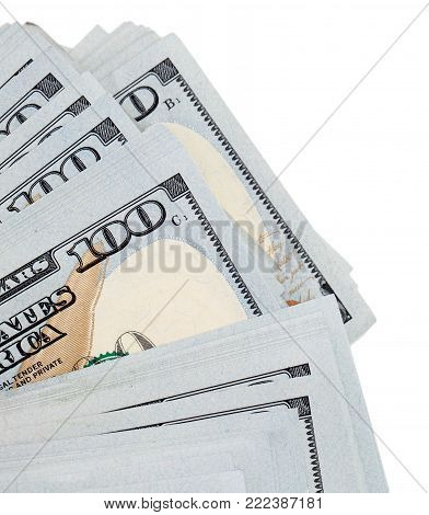 Dollars on a white background . Photos in the studio