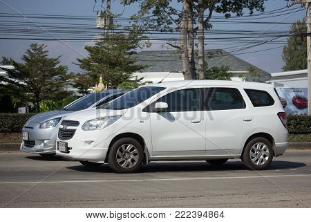 CHIANG MAI, THAILAND -JANUARY 8 2018: Private MPV car, Chevrolet Spin. Photo at road no 121 about 8 km from downtown Chiangmai, thailand.