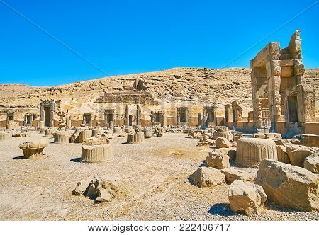 Archaeological site of Persepolis is famous among the local and foregn tourists, visiting Iran.