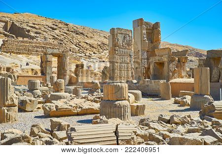 The Walk Among The Ancient Ruins Of The Persepolis Complex, Famous Ceremonial Capital Of Persian Emp