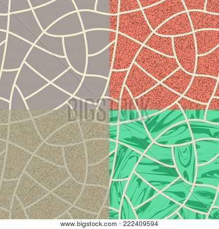 Vector illustration the cobblestone of seamless background.