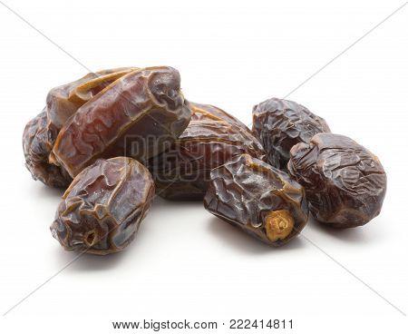 Date fruit Medjool set isolated on white background