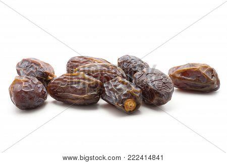 Date fruit Medjool stack isolated on white background