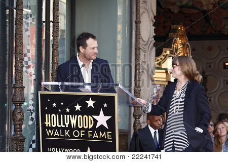 LOS ANGELES, CA - AUG 1: Bill Paxton; Sissy Spacek at a ceremony where Sissy Spacek is honored with a star on the Hollywood Walk of Fame in Los Angeles, California on August 1, 2011