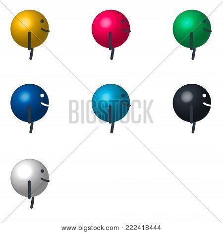 cartoon character billiard ball view. Vector illustration for animation