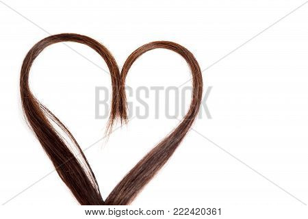 Hair heart on isolated white. Hair heart on isolated white.
