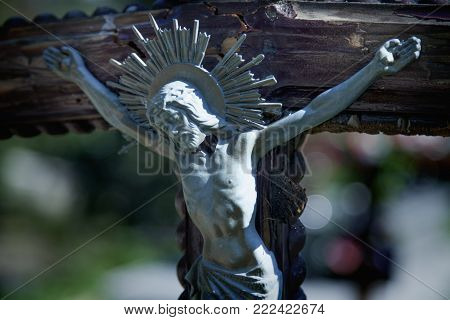 Crucifixion Of Jesus Christ As A Symbol Of Resurrection And Immortality Of The Human Soul (old Woode