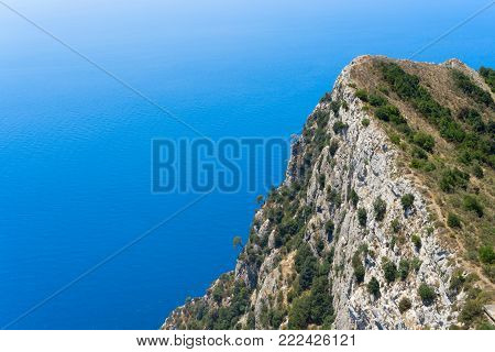 Beautiful summer nature of Capri island coast, Italy