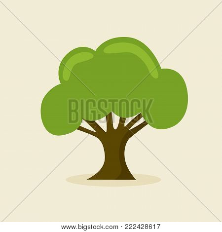 Green tree icon isolated. Tree nature. Vector stock.