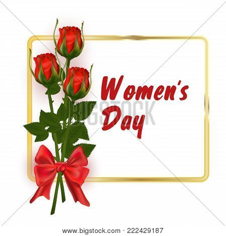 8 March Women s Day. International women s day background. Greeting card template. Vector illustration